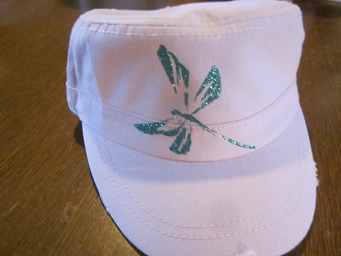 #4 Military style hat with Dragon Fly sparkle