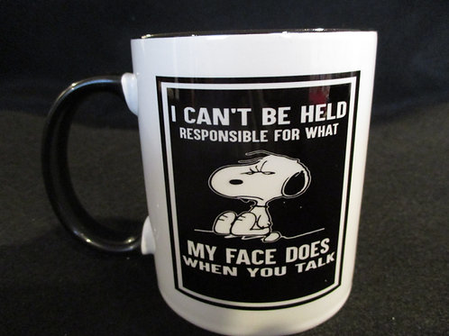 #249 I can't be held responsible...snoopy mug