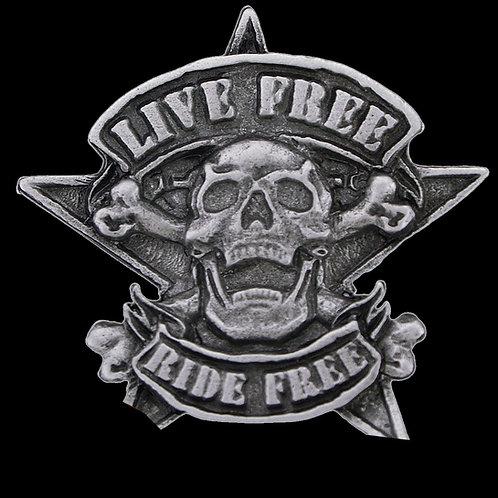 Live Free ride free pin