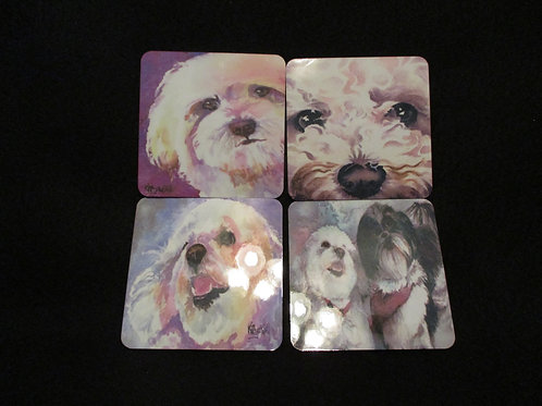 #155 Puppy themed coasters