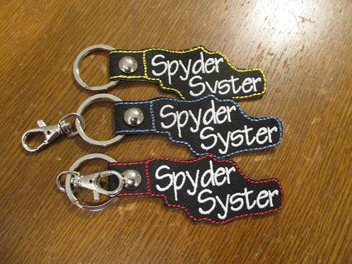 #45 spyder syster keyfob/charm