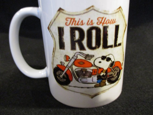 #250 this is how I roll snoopy mug