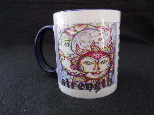 #22 strength image mug