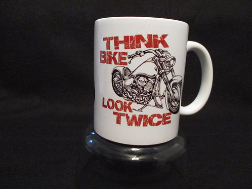 #5 think bike look twice mug