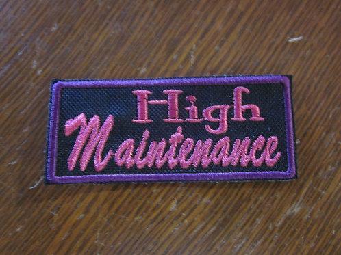 High Maintenance patch