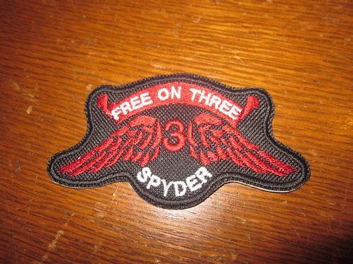"Free on Three spyder patch  2 X 4""  ©"
