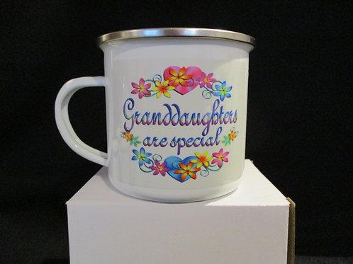 #1035 Grandaughters are special tin mug