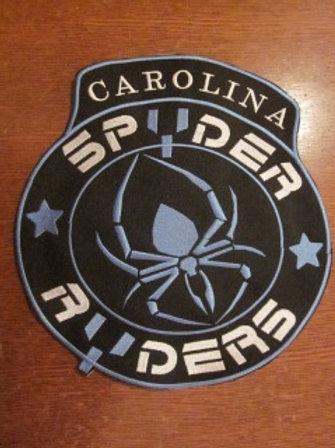 """SPYDER RYDERS PATCH SPIDER - CAROLINA  4.5"""" BLUE"""