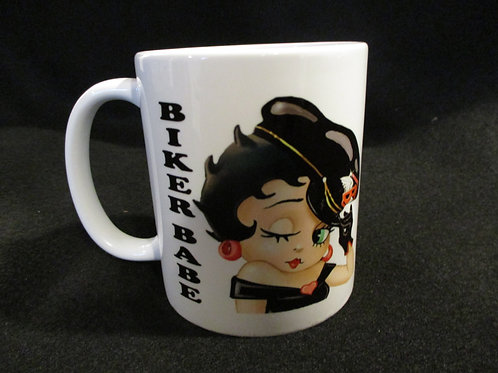 #253 Biker Babe .. betty mug