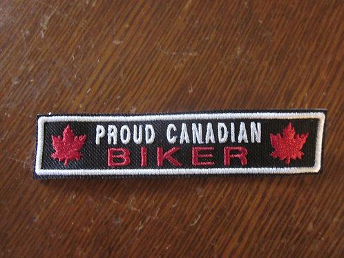 PROUD CANADIAN BIKER WITH LEAF PATCH