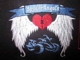 """spyder angels patch with bike outline 5 x 4"""""""