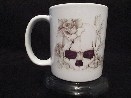 #1 rosey skull mug