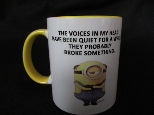 #272 Minion.. the voices in my head mug