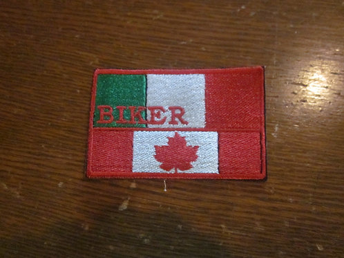 Italian Canadian Biker flag patch