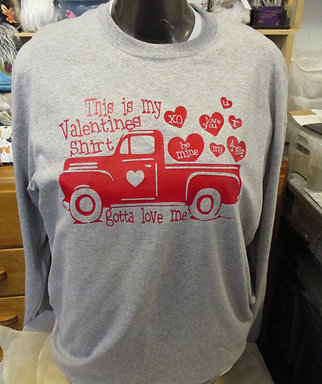 #99 Valentines red truck shirt