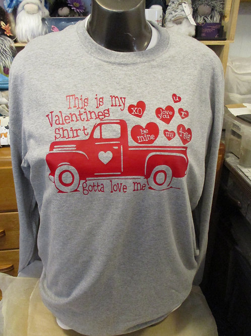 #99 Valentines red truck shirt