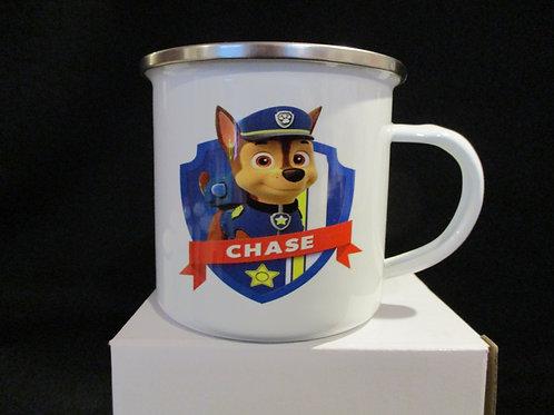 #1039 paws chase tin mug