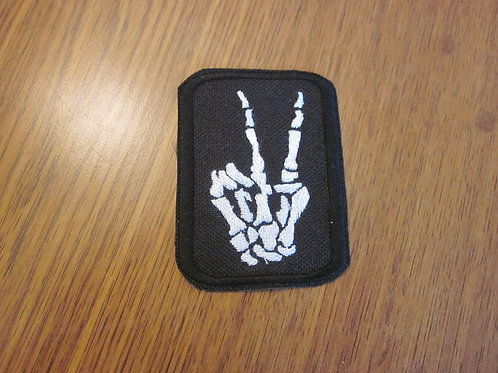 "skeleton peace sign 3 x 2.25"" patch"