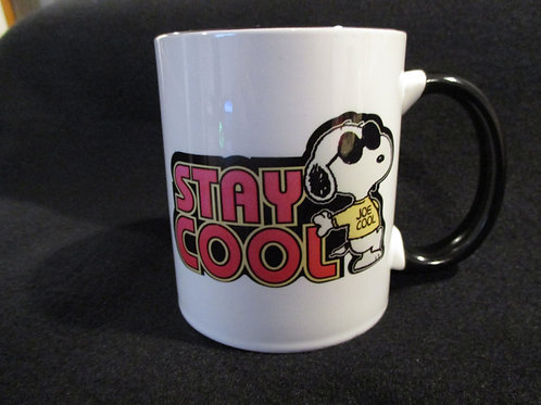 #263 stay cool snoopy mug