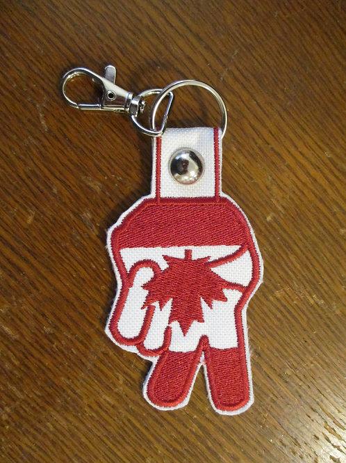 #100 CDN peace hand keyfob