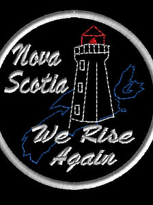 Nova Scotia we rise again patch