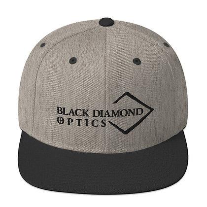 Black/Grey Snapback Hat w/ Black Diamond Logo