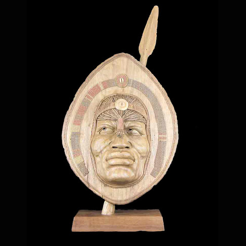 Masai Warrior Mask by Terry Brasher