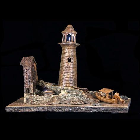 Rock Point Lighthouse by Gene Strickland