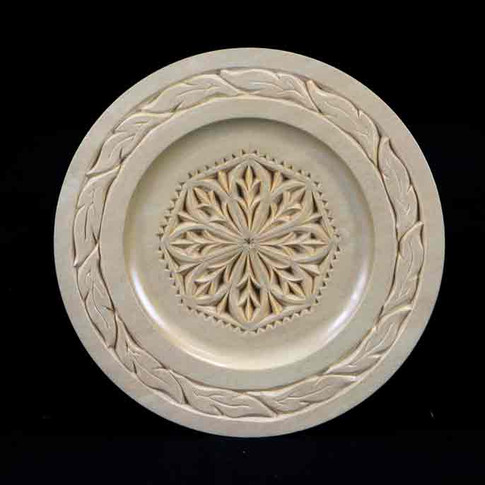 Chip Carved Plate by Jim Nelson