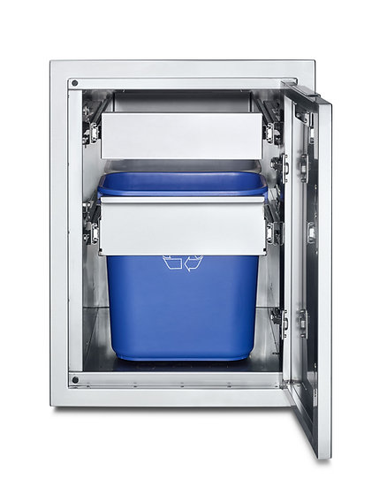 Infinite Series Large Built-In Cabinet with Garbage Holder & Single Drawer
