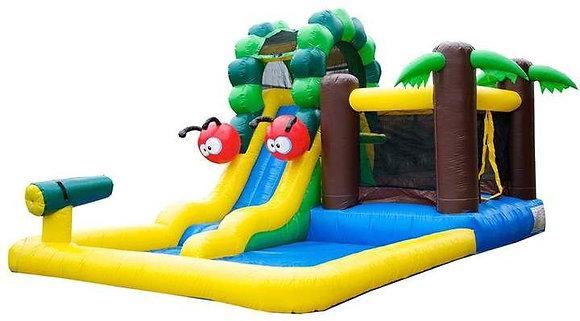 Caterpillar Mud Park - Bouncy Castle & Water Slide