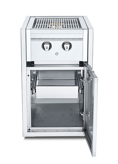 Infinite Series Small Cabinet with Built-In Dual Side Burner & Single Drawer