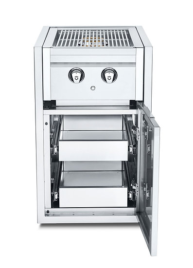 Infinite Series Small Cabinet with Built-In Dual Side Burner & Two Single Drawer