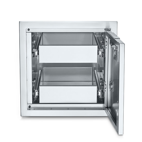 Infinite Series Small Built-In Cabinet with Two Single Drawers