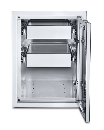 Infinite Series Large Built-In Cabinet with Two Single Drawers