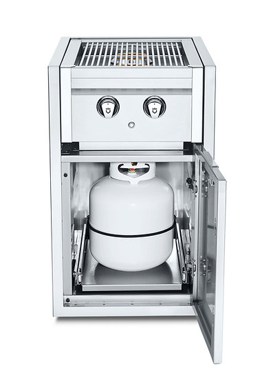 Infinite Series Small Built-In Cabinet with Dual Side Burner & Propane Holder