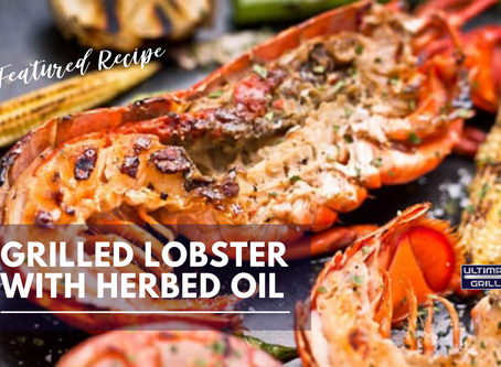 Grilled Lobster with Herbed Oil