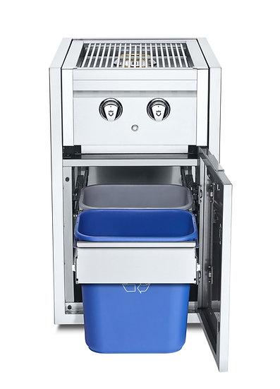 Infinite Series Small Cabinet with Built-In Dual Side Burner & Garbage Holder