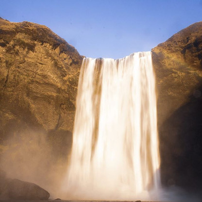 Skogafoss . . .  One of the most popular