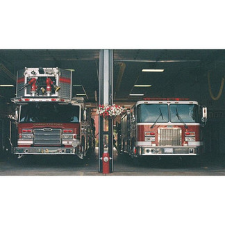 Fire trucks . . .  A small fire company