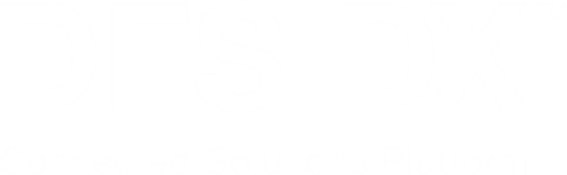 DFS DX Logo White Transparent Background