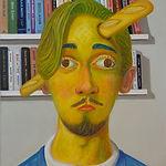 Nicole Eisenman (1965) - The Triumph of Discourse - Bostelmann With Bread In The Head.JPG