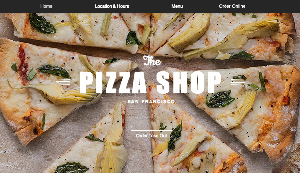 Restaurant website templates – Pizza Restaurant