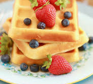 Eggless Waffles recipe in home - with no waffle maker
