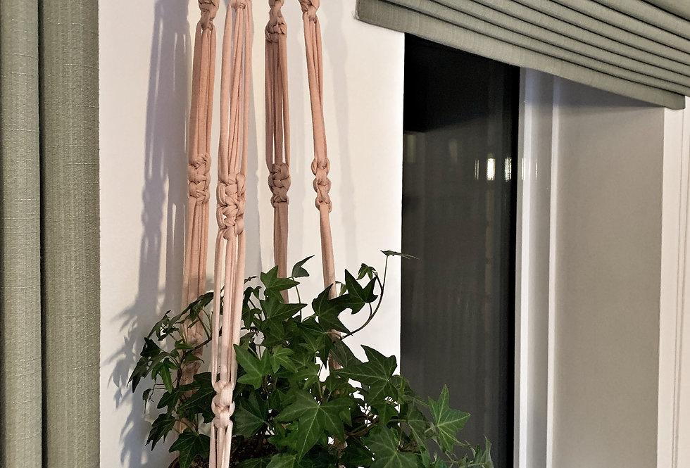 Pink plant hanger