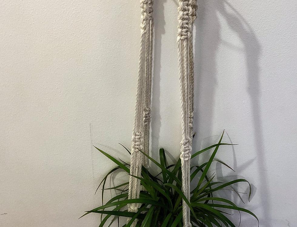 White plant hanger