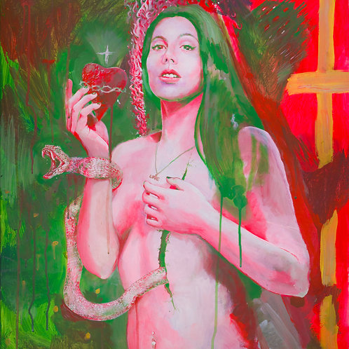 """ITALIA"" (2018) Acrylic on canvas by Gianfranco Menegatti, 80x60cm"