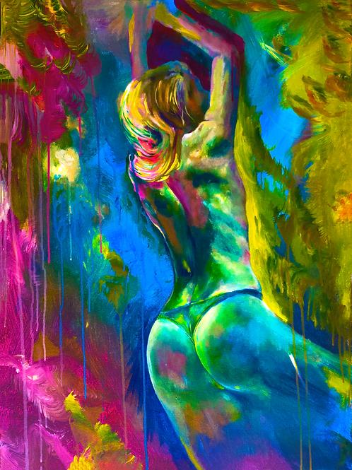 """""""Laxy"""" (2017) Acrylic on canvas by Gianfranco Menegatti, 800x600mm"""