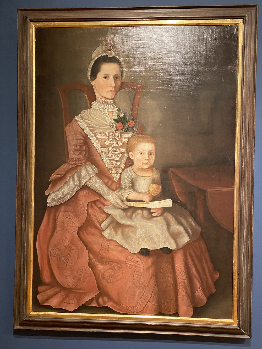 "Winthrop Chandler ""Eunice Huntington Devotion and Her Daughter Eunice"" (c. 1772)"
