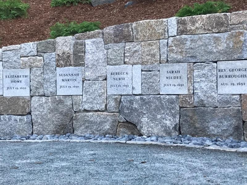 The circa 2017 memorial to the victims of the Salem Witch Trials, at the site of their hangings in Salem.